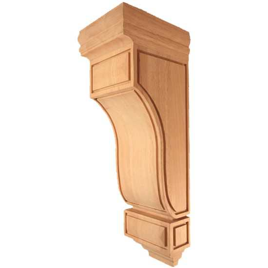 Large Mission Corbel Rubberwood 6-3/4 x 7-3/4 x 22