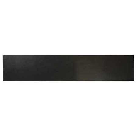 E. JAMES 3/16' Comm. Grade Neoprene Rubber Strip, 4'x36', Black, 40A, 6040-3/16Y