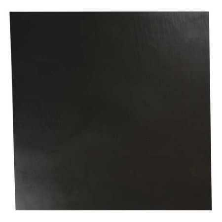 E. JAMES 3/16' Comm. Grade Neoprene Rubber Sheet, 12'x12', Black, 70A, 2080-3/16A