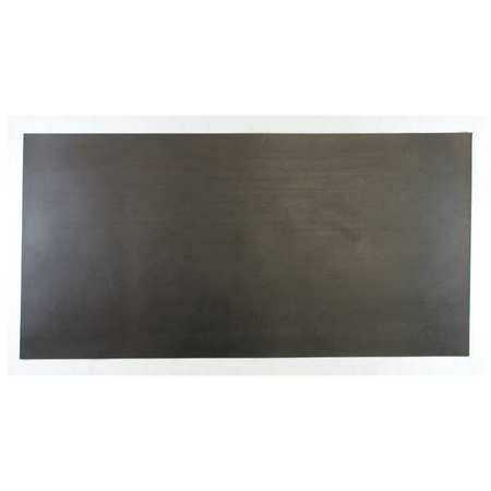 E. JAMES 3/32' Comm. Grade Neoprene Rubber Sheet, 12'x24', Black, 30A, 6030-3/32B