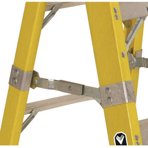 Louisville Ladder FS1110HD 10 ft. Fiberglass Heavy Duty Step Ladder, Type IAA, 375 Lbs Load Capacity
