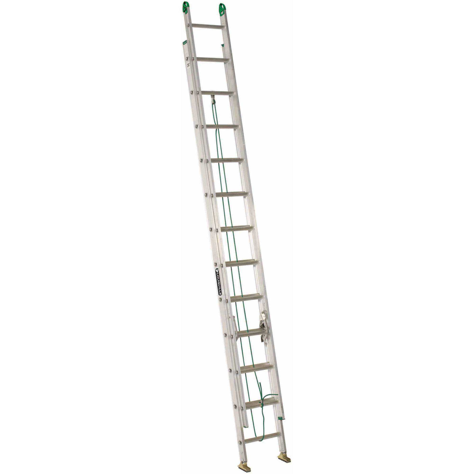 Louisville Ladder AE4224PG 24 ft. Aluminum Extension Ladder, Type II, 225 lbs Load Capacity