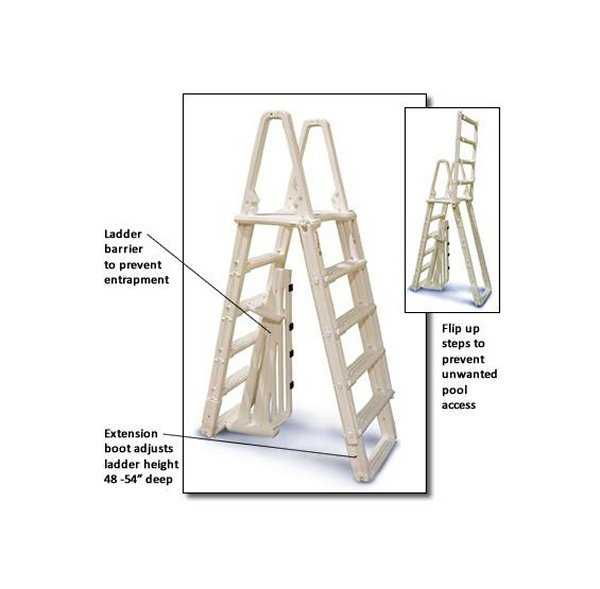 Confer 7100B Evolution A Frame Above Ground Swimming Pool Ladder 48' to 54'