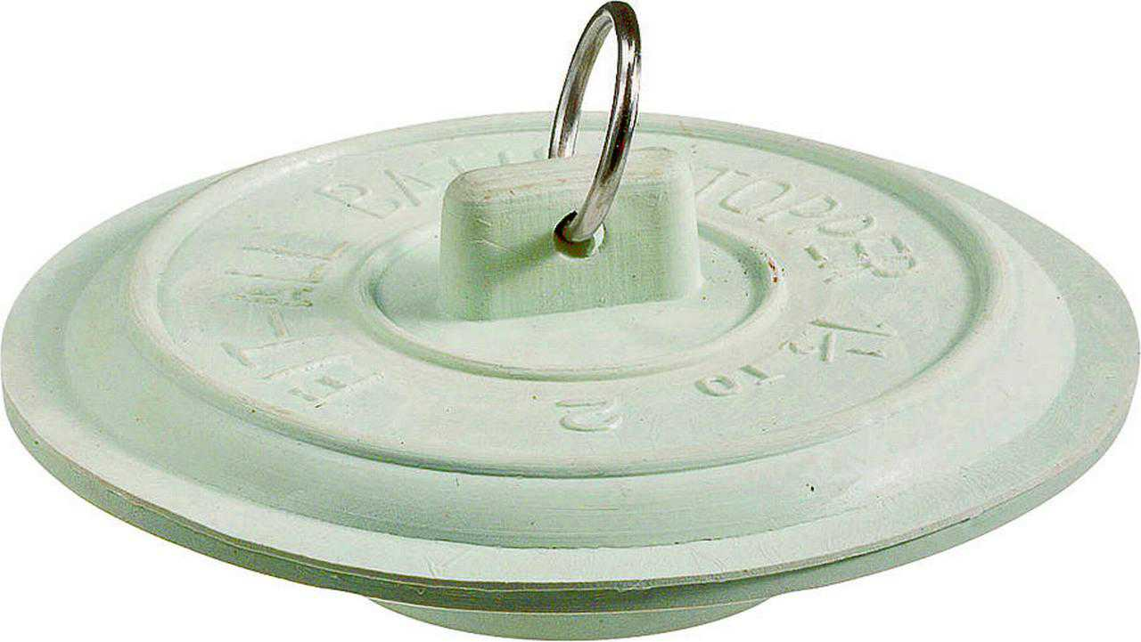 Plumb Pak PP820-4 Tub Drain Stopper With Plated Ring, For Use With All Laundry and Bath Tubs With 1-