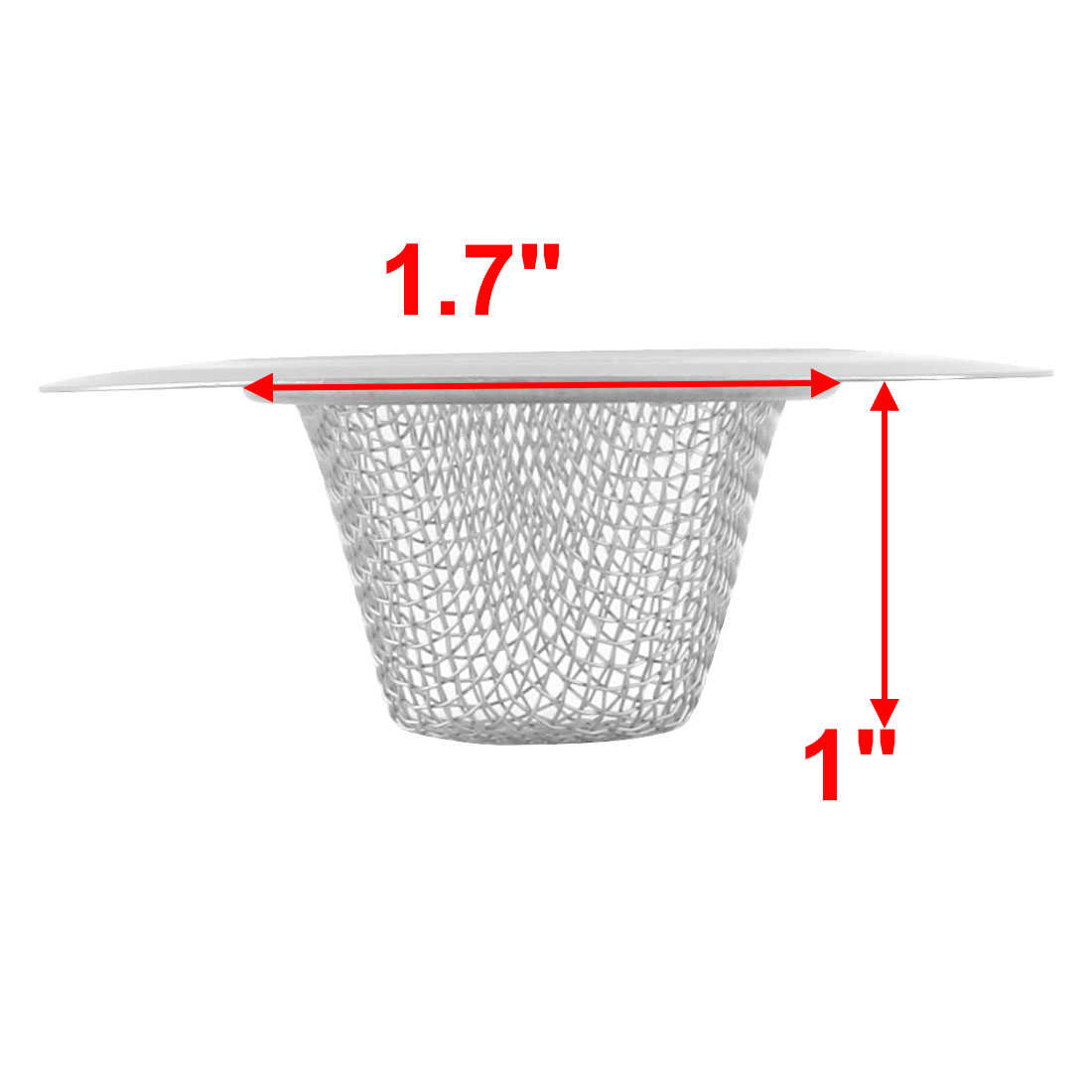 Kitchen Bathroom Metal Sink Drain Strainer Stopper Filter Basket 7.5cm Dia 2pcs