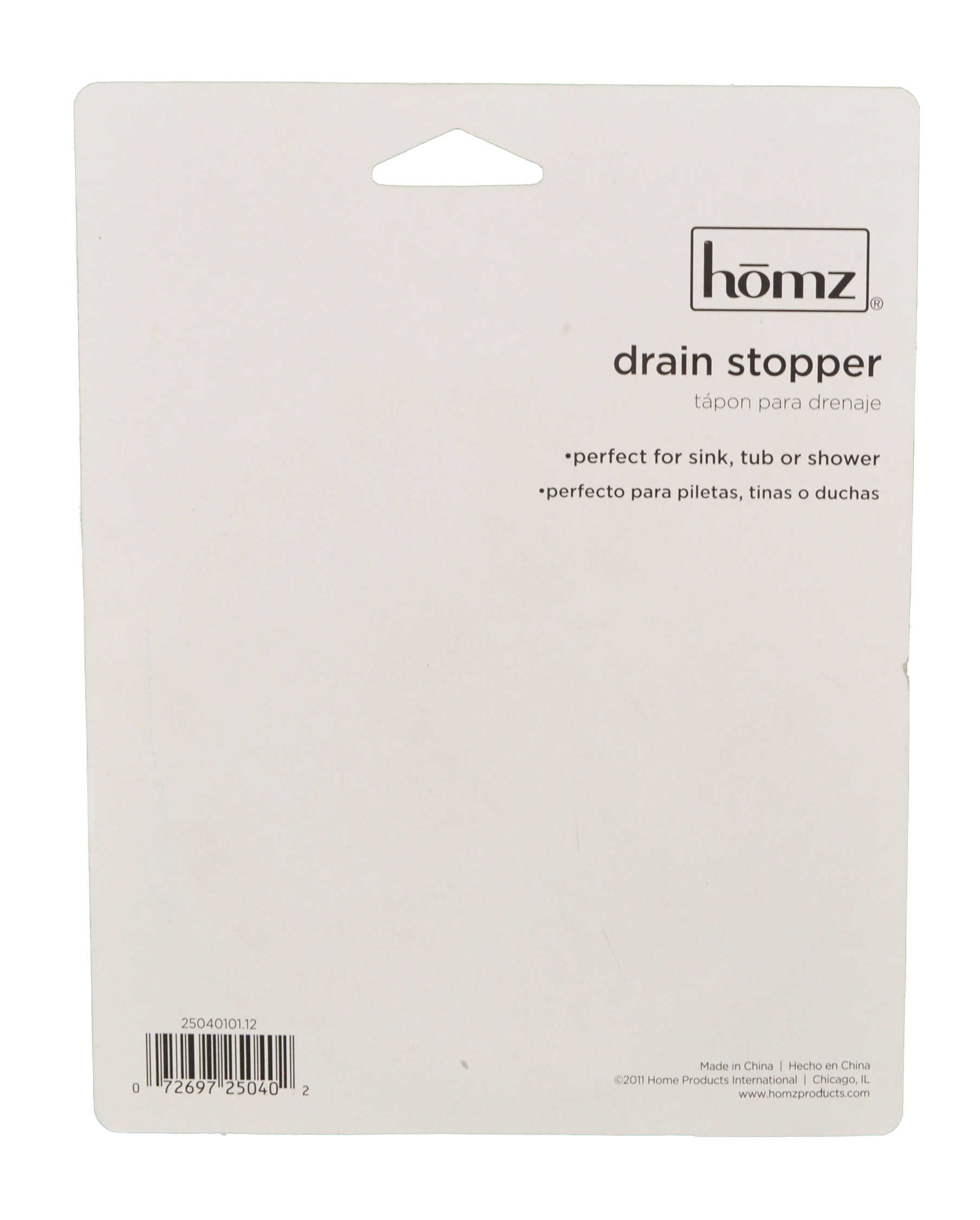 Set of 6 Homz Drain Kitchen Sink Stopper Rubber Standard Size 4.25' Tub Plug