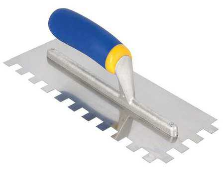 Qep 11, Notched Trowel, Stainless Steel, 49919Q