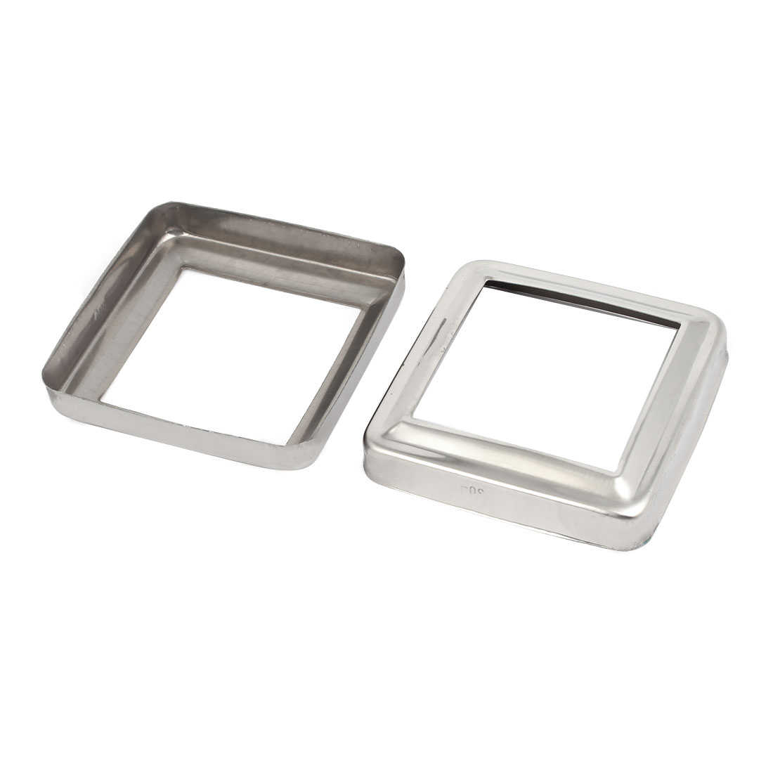 2pcs Stair Handrail Hand Rail 60mm x 60mm Post Plate Cover 304 Stainless Steel