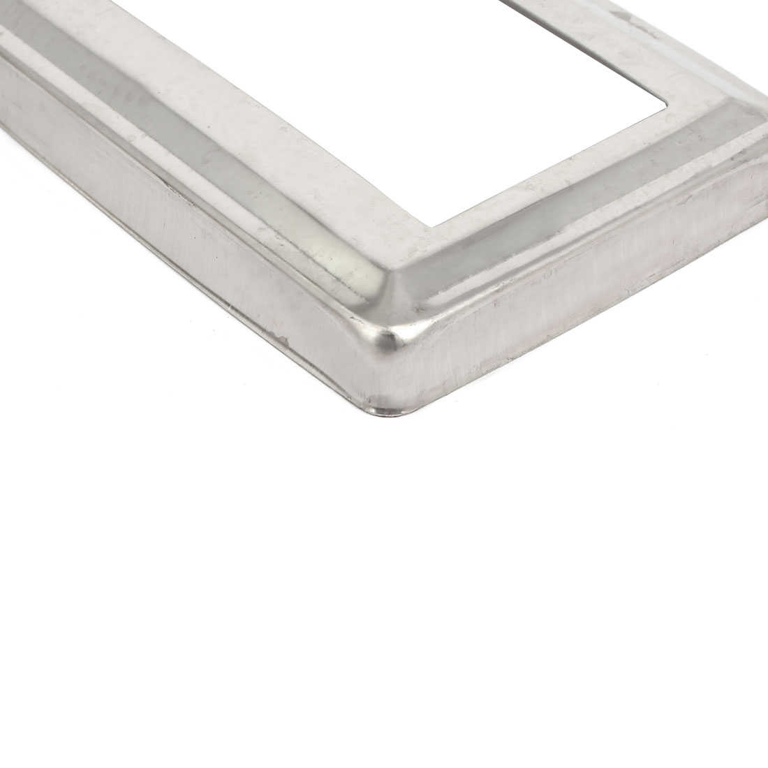 Unique Bargains 2pcs Ladder Handrail Hand Rail 4' x 2' Post Plate Cover 201 Stainless Steel
