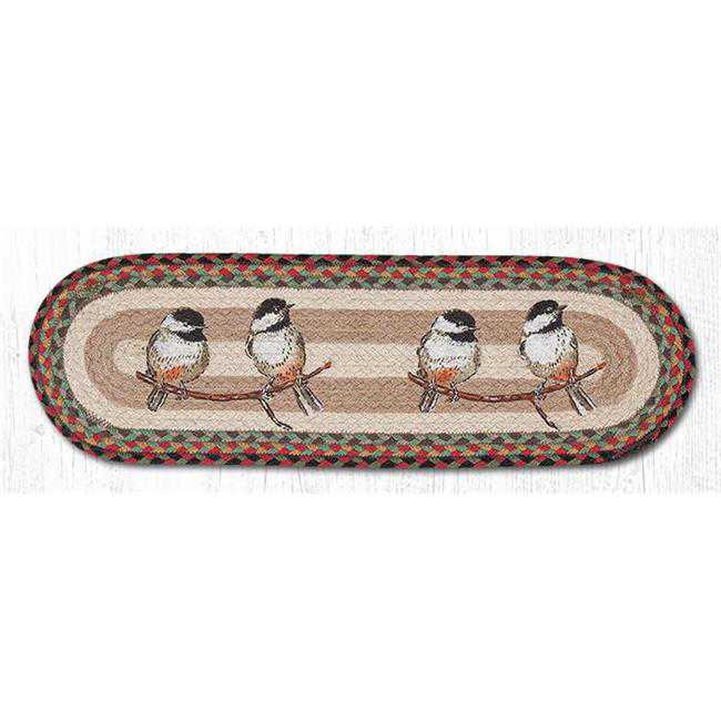 Capitol Importing 49-ST081C 27 x 8.25 in. Chickadee Printed Oval Stair Tread Rug