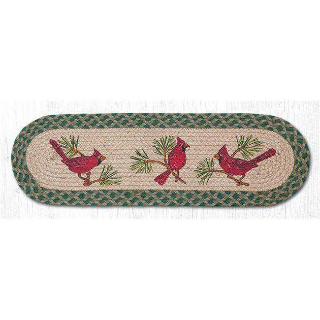Capitol Importing 49-ST365C 27 x 8.25 in. Cardinals Printed Oval Stair Tread Rug