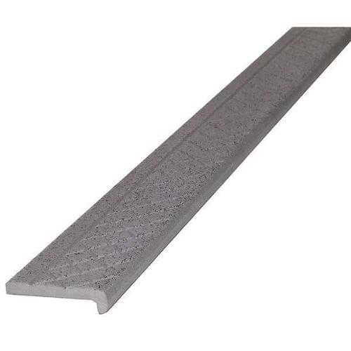 WOOSTER PRODUCTS AG101SP.3-4 Safety Stair Nosing, Gray, Alum, 4 ft. W