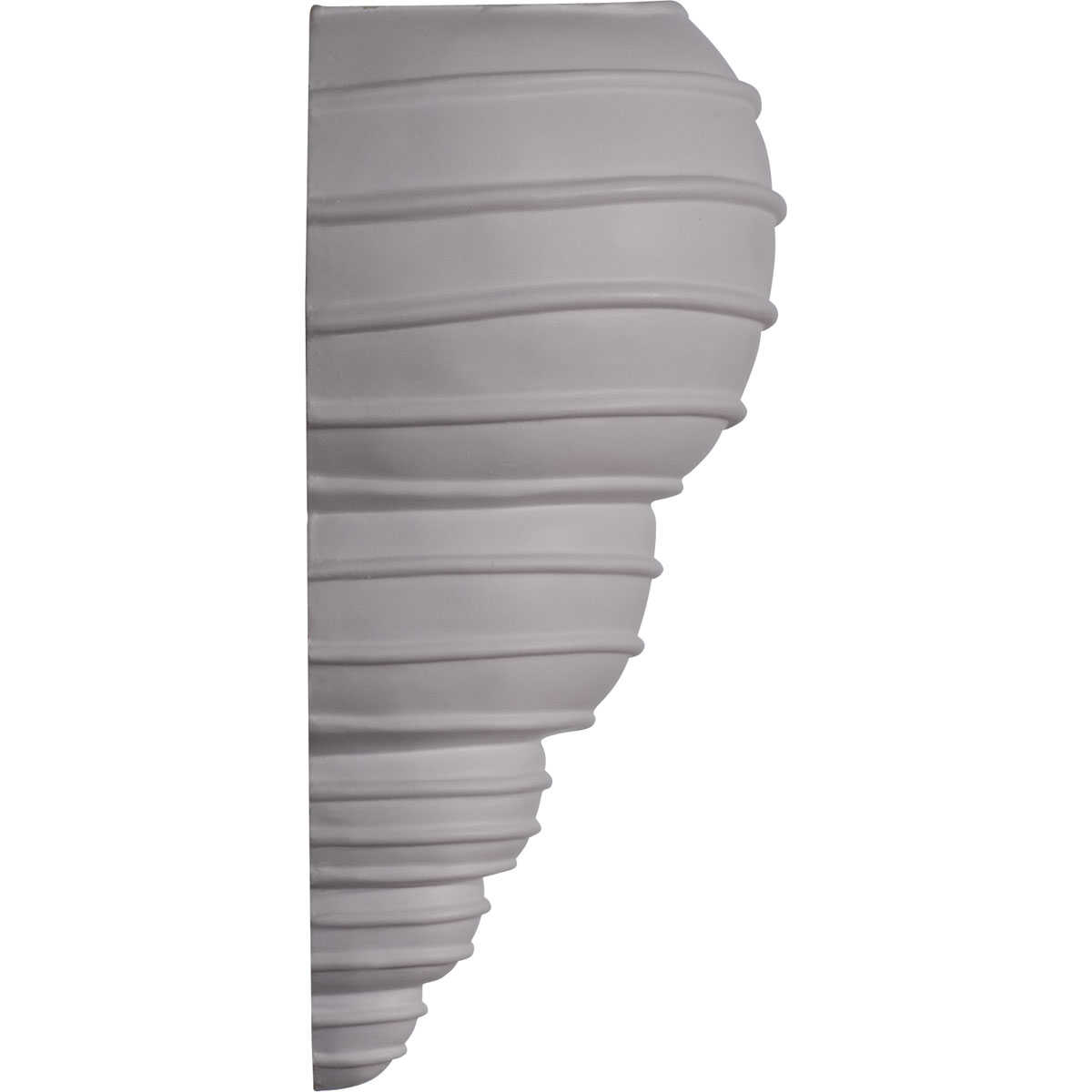 Ekena Millwork Spiral Shell Wall Sconce