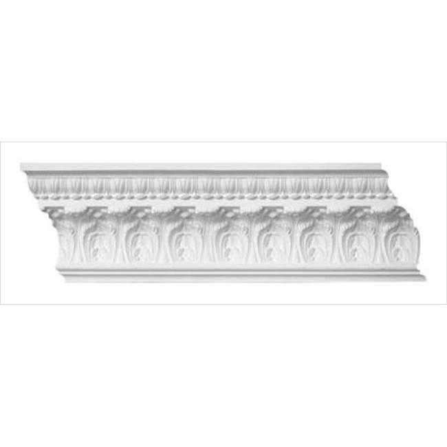 American Pro Decor 5APD10106 96 x 7.87 in. Leaf Crown Moulding