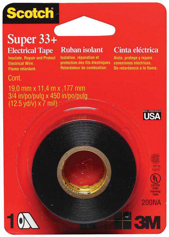 Scotch Super 33+ Vinyl Electrical Tape, 0.75 in. x 450 in.