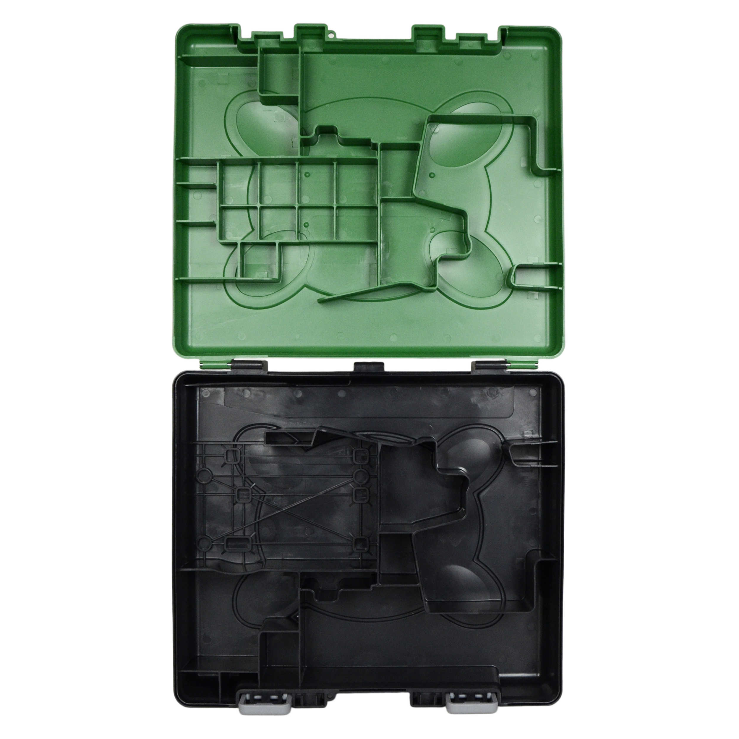 Hitachi Power Tools DS18DSAL Plastic Tool Kit Carrying Case with Green Top