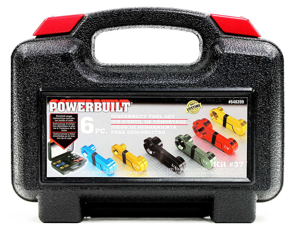 Powerbuilt 6 Piece Master Disconnect Tool Kit, 5/16-Inch to 3/4-Inch