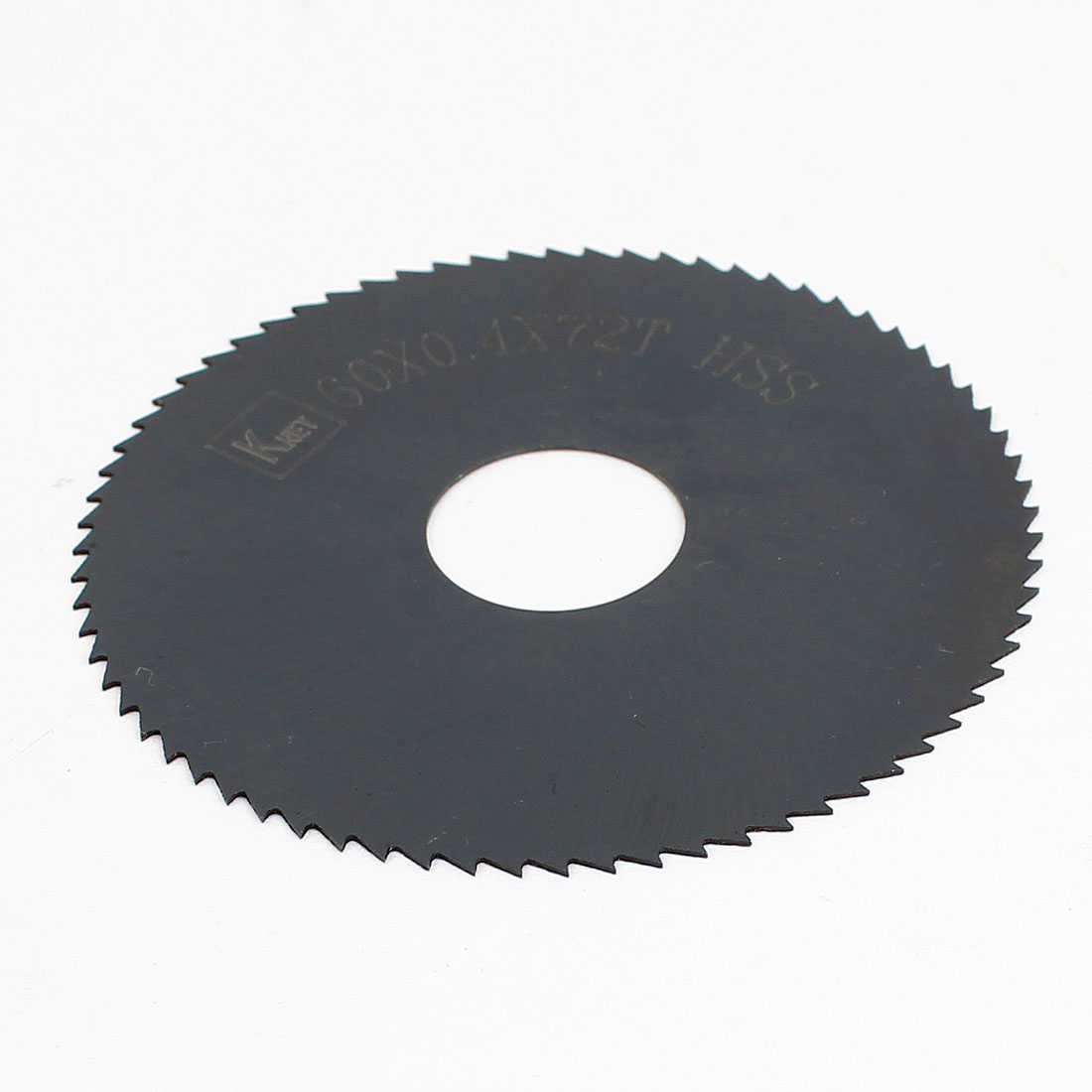 Unique Bargains HSS 72 Teeth 60mm x 0.4mm x 16mm Slitting Saw Black