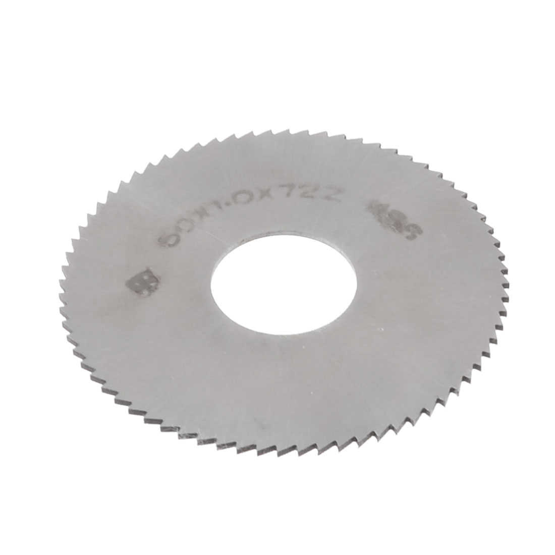 16mm Arbor Hole Dia 1mm Thick 72 Teeth HSS Slotting Saw Blade Silver Tone