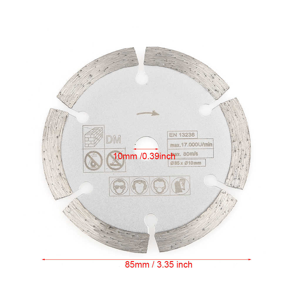 85mm x 10mm Diamond Circular Cut Saw Woodworking Rotary Tool Cutting Disc,Circular Cutting Saw, Wood Cutting Disc