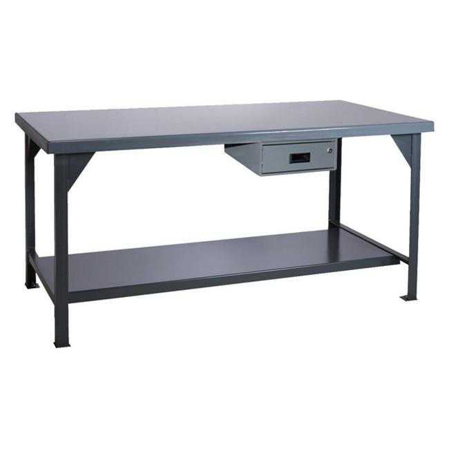 Durham HDWB-3660-177-95 34 x 60 x 36 in. Steel Extra Heavy Duty Workbench with Drawer
