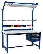 BenchPro KD3048 Kennedy Heavy Duty Steel Production Bench with ESD Anti Static Top, 6600 lbs Capacity, 48' Width x 30' Height x 30' Depth