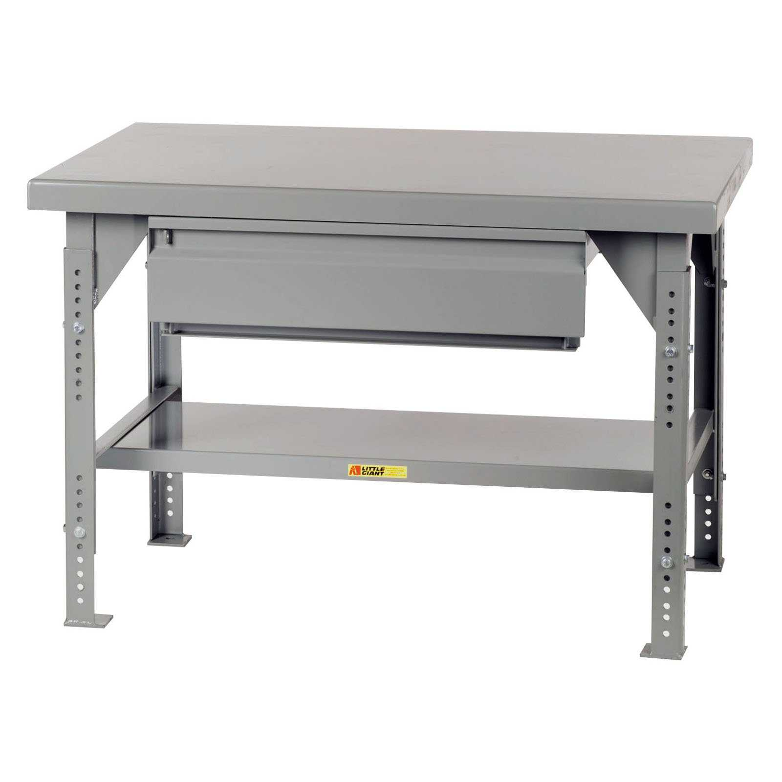 Little Giant Heavy-Duty Workbench with Drawer - Adjustable - 36 x 60 in.