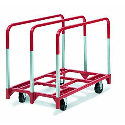 Raymond 3850 Steel Panel Mover with 3 Standard Upright and 5 x 2 Phenolic Casters, 2400 lbs Capacity, 41 Length x 32 Width x 9 Height
