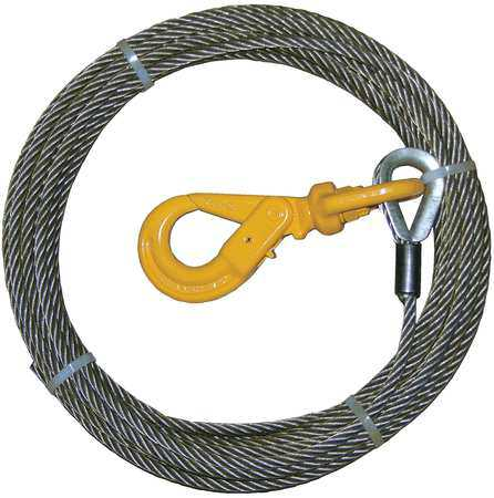 B/A PRODUCTS CO. 4-38SC100LH Winch Cable, Steel, 3/8 In. x 100 ft.