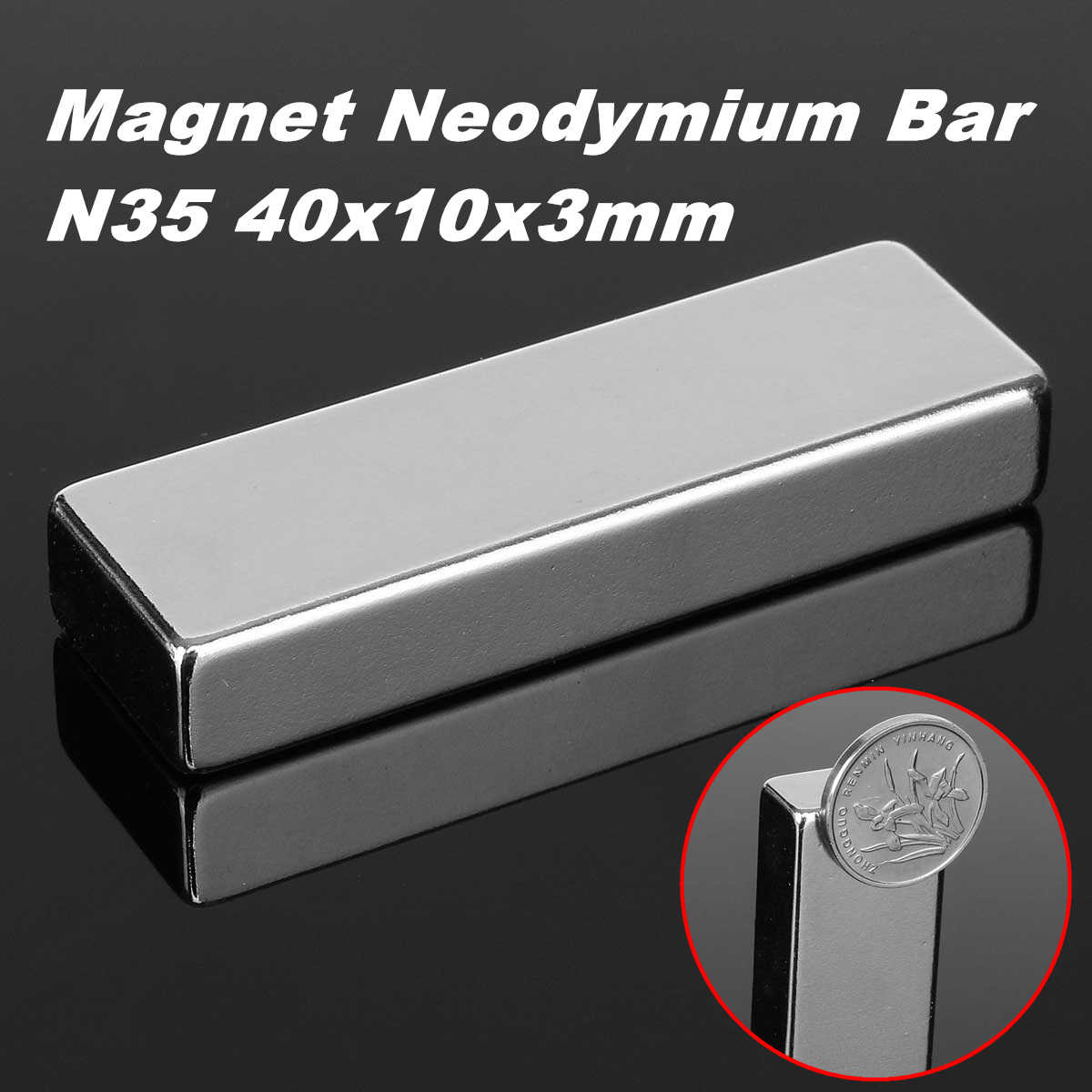60x20x10mm N52 Block Strong Fridge Magnet Neodymium Permanent Rare Earth Magnet