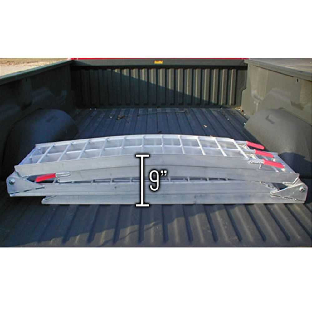 89' Dual Arched Folding Aluminum ATV Loading Ramps
