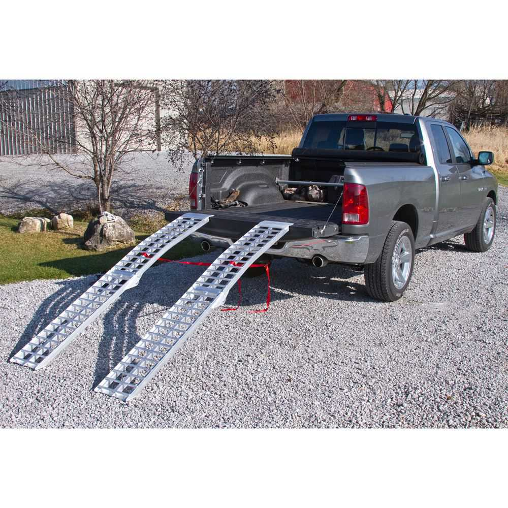 Black Widow  Arched Loading Ramps  AF-9012-HD-2 -- 7 5 L x 11-1/4 W  With Safety Straps  3,000 lb. Capacity