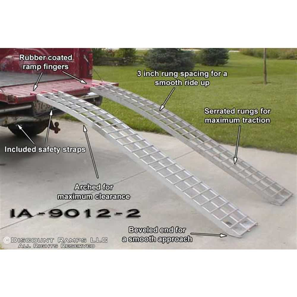 89' Arched Aluminum ATV Loading Ramps